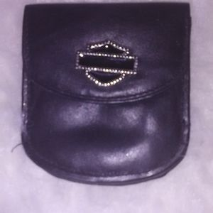 Harley Davidson jewel pouch wallet leather